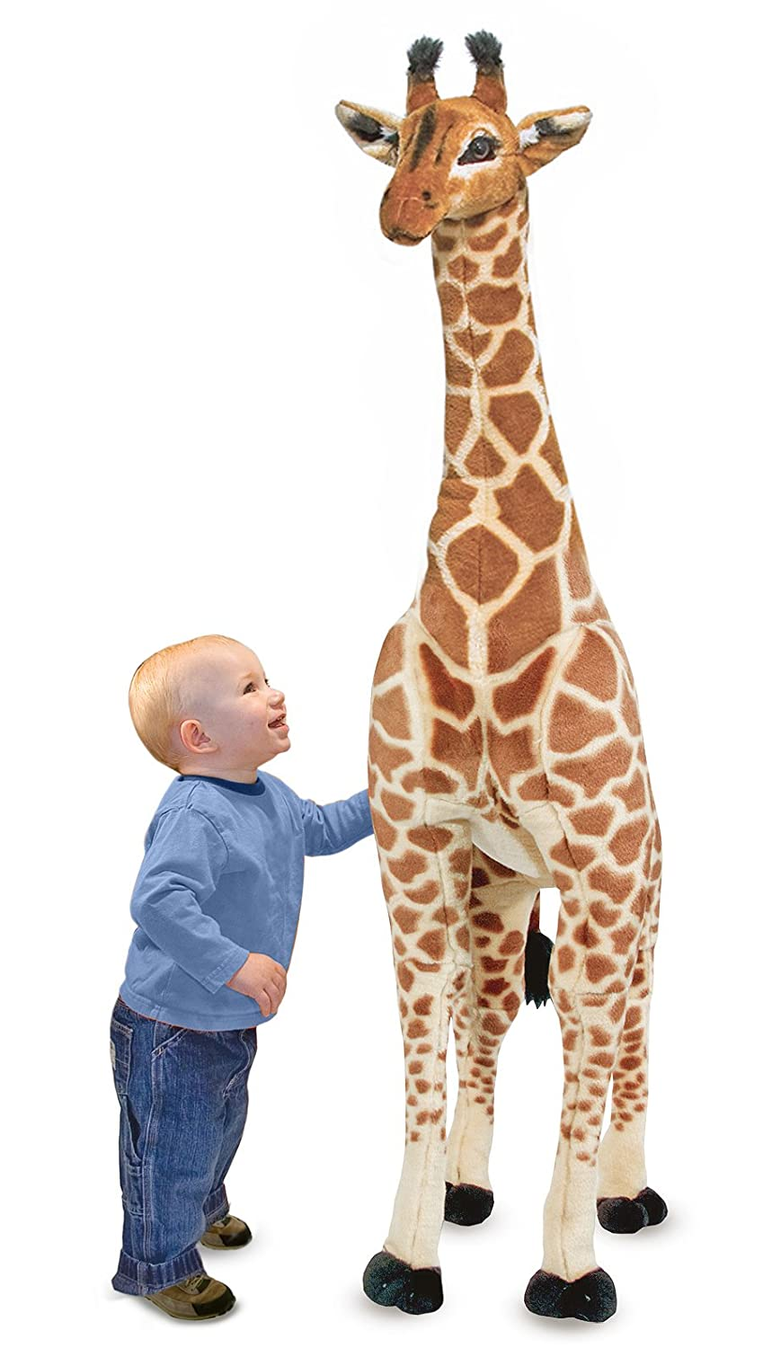 melissa u0026 doug giant giraffe lifelike stuffed animal over 1