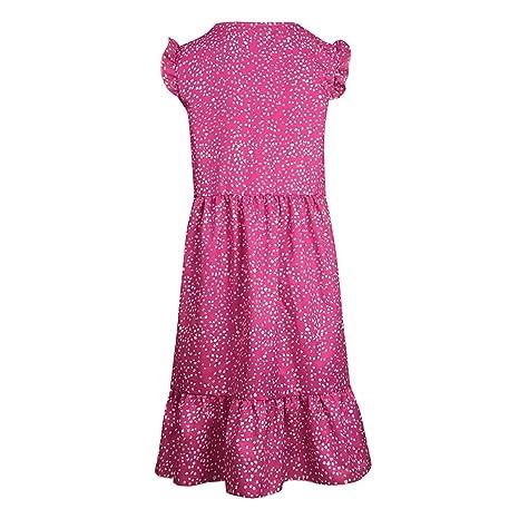 VEMOW Vestido de Verano sin Mangas Impresión Mini con Cuello en V ...