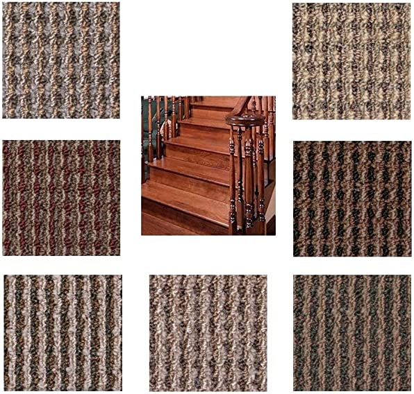 9 x27 Dog Assist Carpet Stair Treads – Sierra – Set of 13 w 1 Roll Carpet Tape Cape Cod