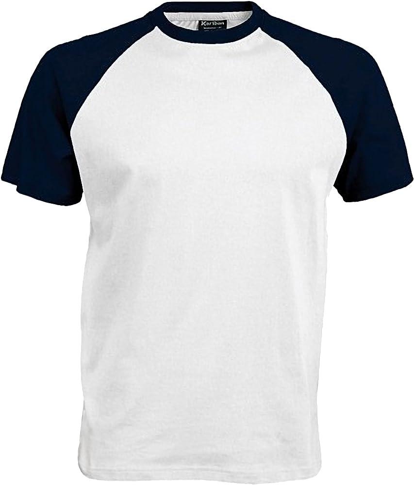 Kariban - Camiseta 2 Colores Modelos Beísbol/Baseball de Manga ...