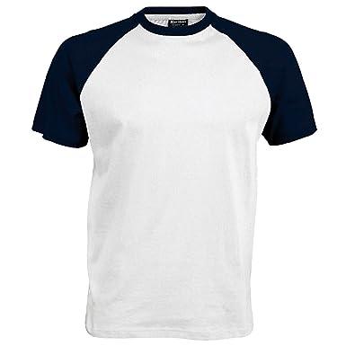 b735b0e7d21 T-shirt de baseball à manches courtes Kariban pour homme  Amazon.fr ...