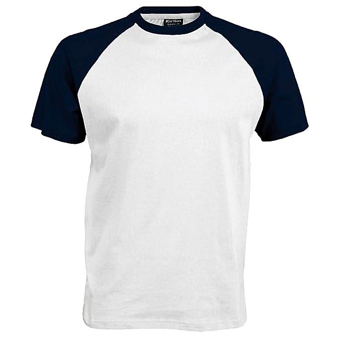 ad65fcd29 Kariban - Camiseta 2 colores modelos Beísbol Baseball de manga corta para  hombre - 100% Algodón  Amazon.es  Ropa y accesorios