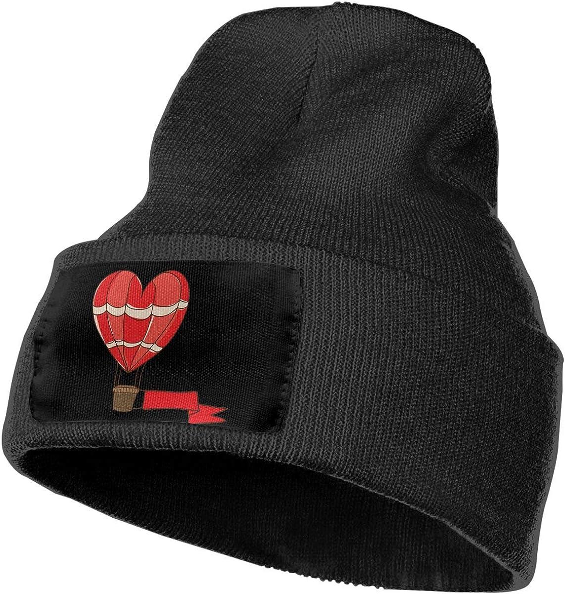Mens and Womens 100/% Acrylic Knitting Hat Cap Heart Shape Hot Air Balloon Fashion Skull Beanie