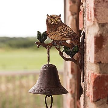 antikas – Campana para puerta con búho para jardín y patio, jardín Campana, abrazadera para puerta, entrada Campana: Amazon.es: Bricolaje y herramientas