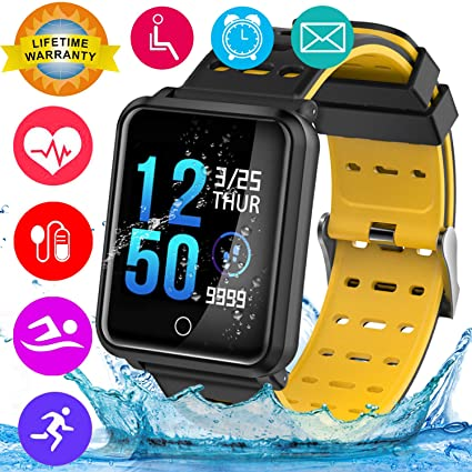 Watches Digital Watches Wishdoit Smart Watch Blood Pressure Wrist Band Heart Rate Monitor Sports Smart Wtach Fitness Tracker Wristband For Android Ios