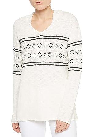 1cb314b8569d Sanctuary Women s Hooded Fair-Isle Sweater at Amazon Women s Clothing store