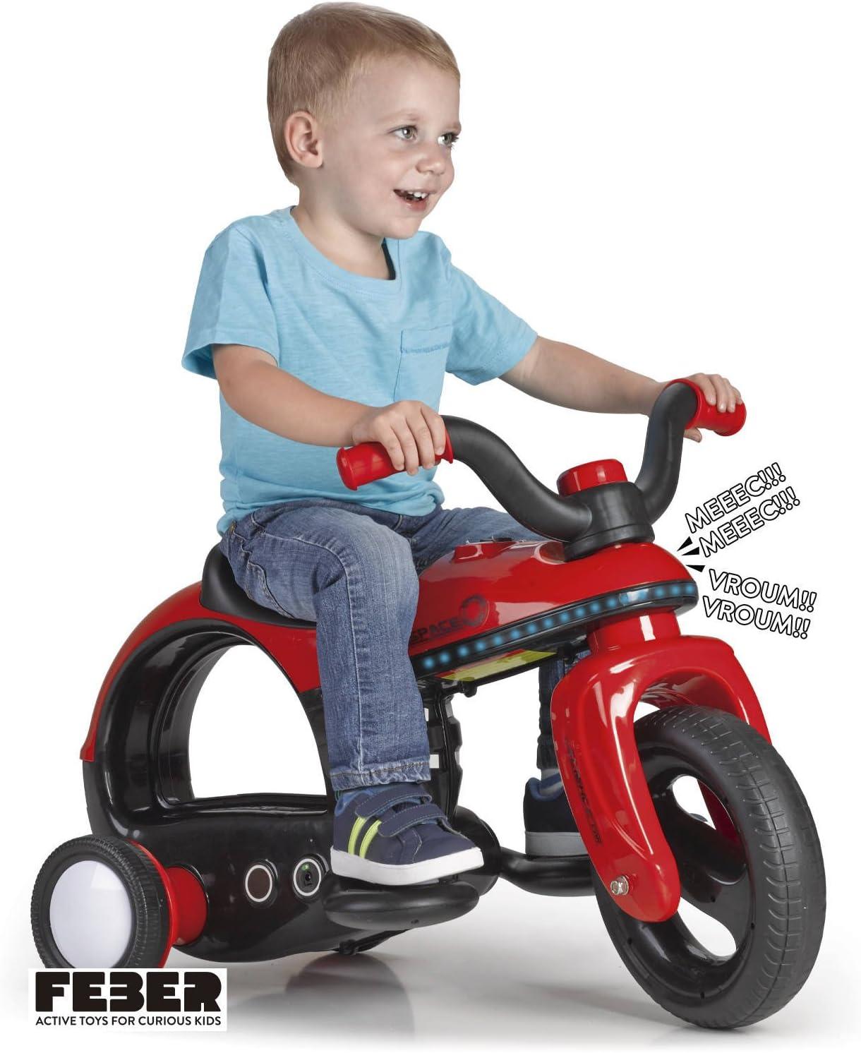 FEBER - Spacebike 6 V Moto eléctrica infantil con Luces y Sonidos (Famosa 800011898)