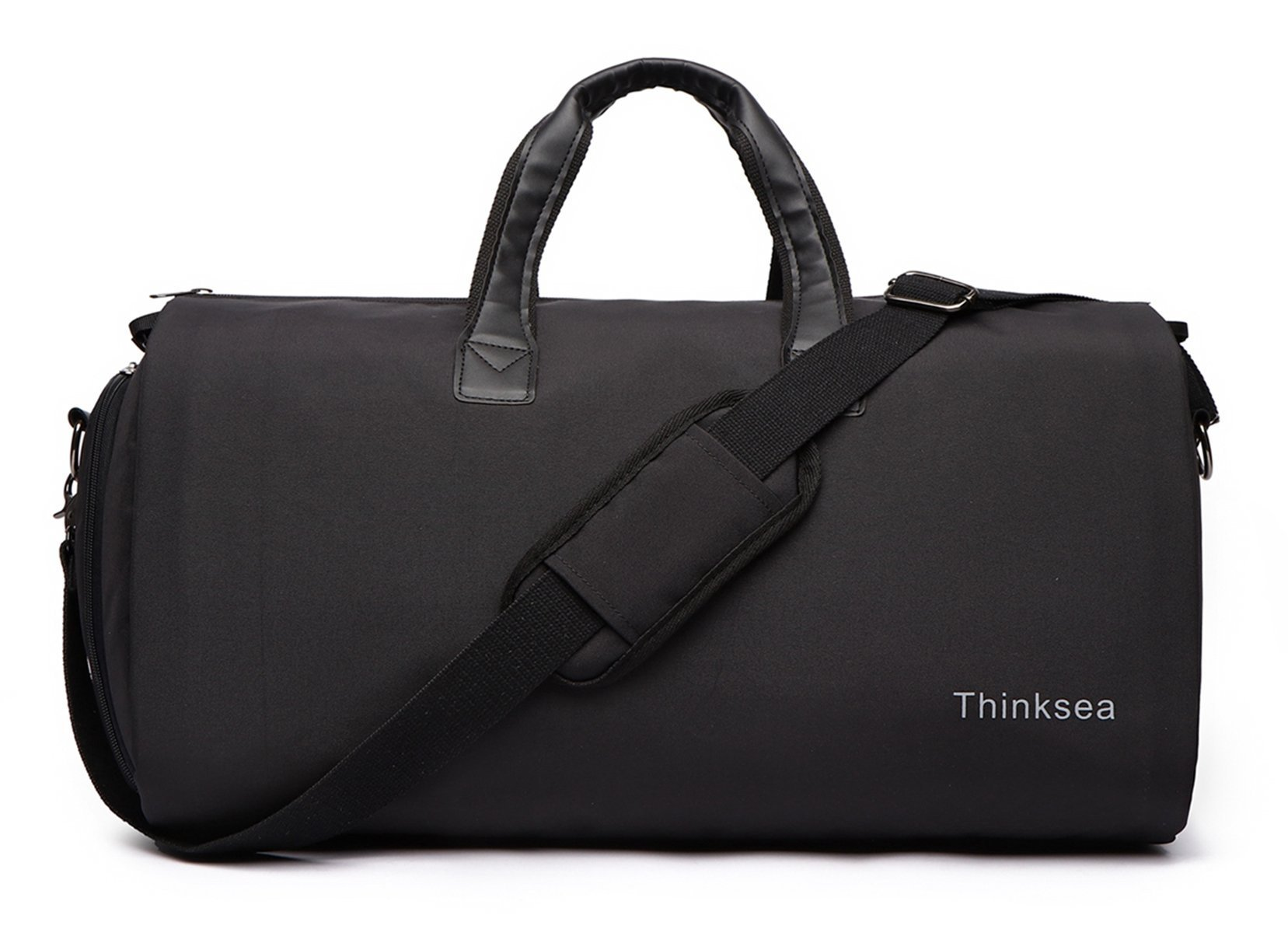 Thinksea Foldable Garment Bag with Weekender Duffle Bag Carry on for Men Women - 2 in 1 Suitcase Suit Travel Bags