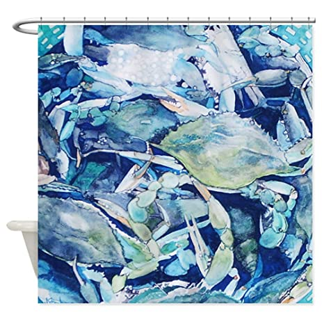 CafePress   Blue Crab Bounty Shower Curtain   Decorative Fabric Shower  Curtain