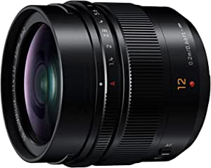Panasonic Leica DG Summilux 12mm F1.4 Fixed Focal Length Wide Lens, Black (H-X012E)