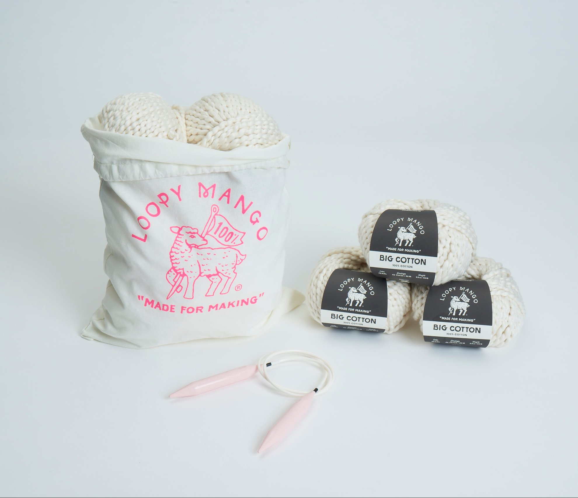 Loopy Mango DIY Kit - Cotton Baby Blanket-Tahitian Pearl by Loopy Mango (Image #2)