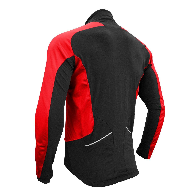 Urban Cycling Reflector Winter Softshell Thermal Jersey Jacket