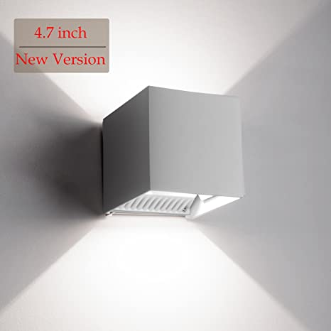 LED Exterior Wall Lamp,4.7u0026quot; Adjustable Outdoor Porch Wall Mounted Lighting  Fixtures,12W