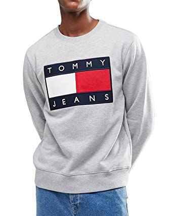 Tommy Hilfiger Sweat Shirt Homme Gris: