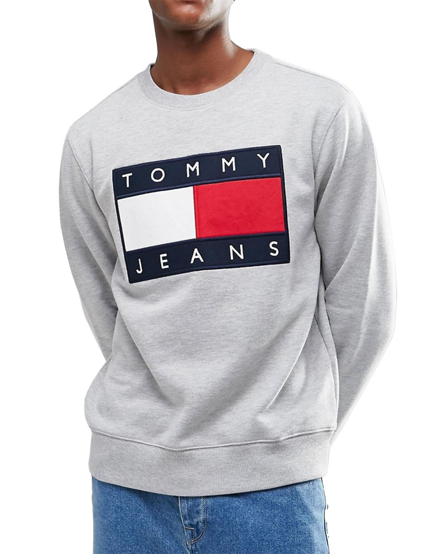 TOMMY HILFIGER Men's Sweatshirt - gray, XXL by Tommy Hilfiger
