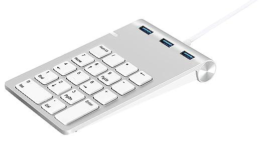 26 opinioni per Tastierino Numerico USB, Alcey Finitura in Alluminio Tastierino Numerico USB con