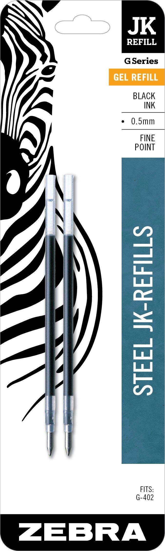 Recarga Tinta Zebra Pen 0.5mm Negro (88012) [2un.]