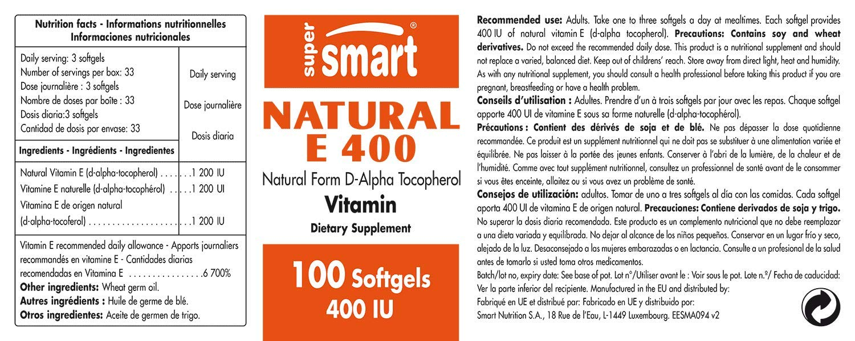 Supersmart MrSmart - Vitaminas - Natural E 400-400 IU Alfa ...