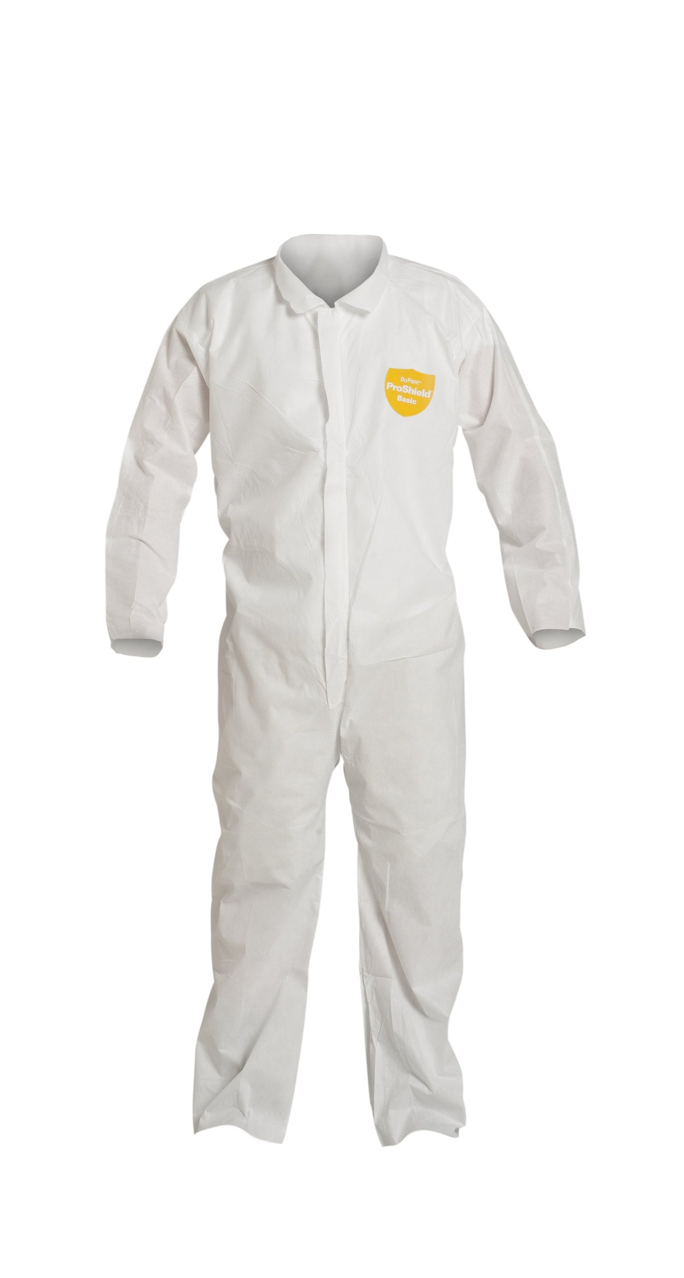 DuPont ProShield 10 PB120S Protective Coverall with Serged Seams, Disposable, Open Cuff and Ankles, X-Large, White (Pack of 25) by DuPont (Image #1)