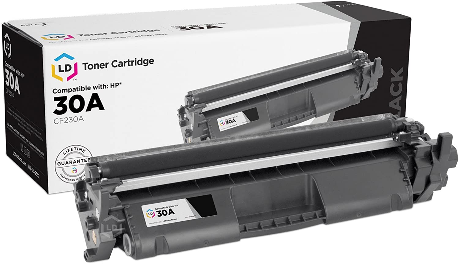 LD Compatible Toner Cartridge Replacement for HP 30A CF230A (Black)