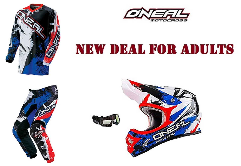 Adultos Oneal Motocross Quad Dirt Bike ATV Enduro casco + ...