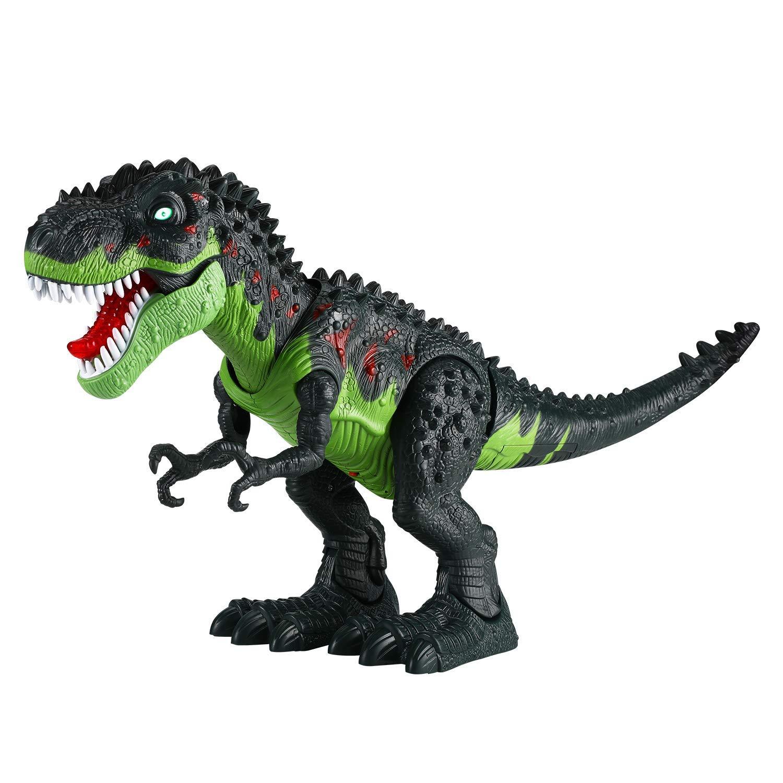 Tuko Dinosaur Toys Jurassic World Electronic Led Light Up Roaring Realistic Large T-Rex Toys for 3-12 Year Old Toddler Boy Girl Gift