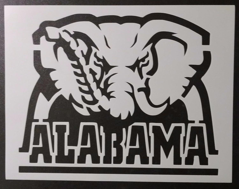 5x4 size Alabama Crimson Roll Tide stencil 11x8.5-14x11 available ...