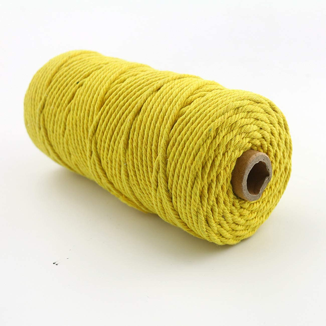 About 110 yd Best for Plant Hanger Wall Hanging Craft Making and DIY Black TinaWood 3mm Natural Virgin Cotton Cord // Twine String//Macrame Cord//Soft Undyed Natural Color Rope