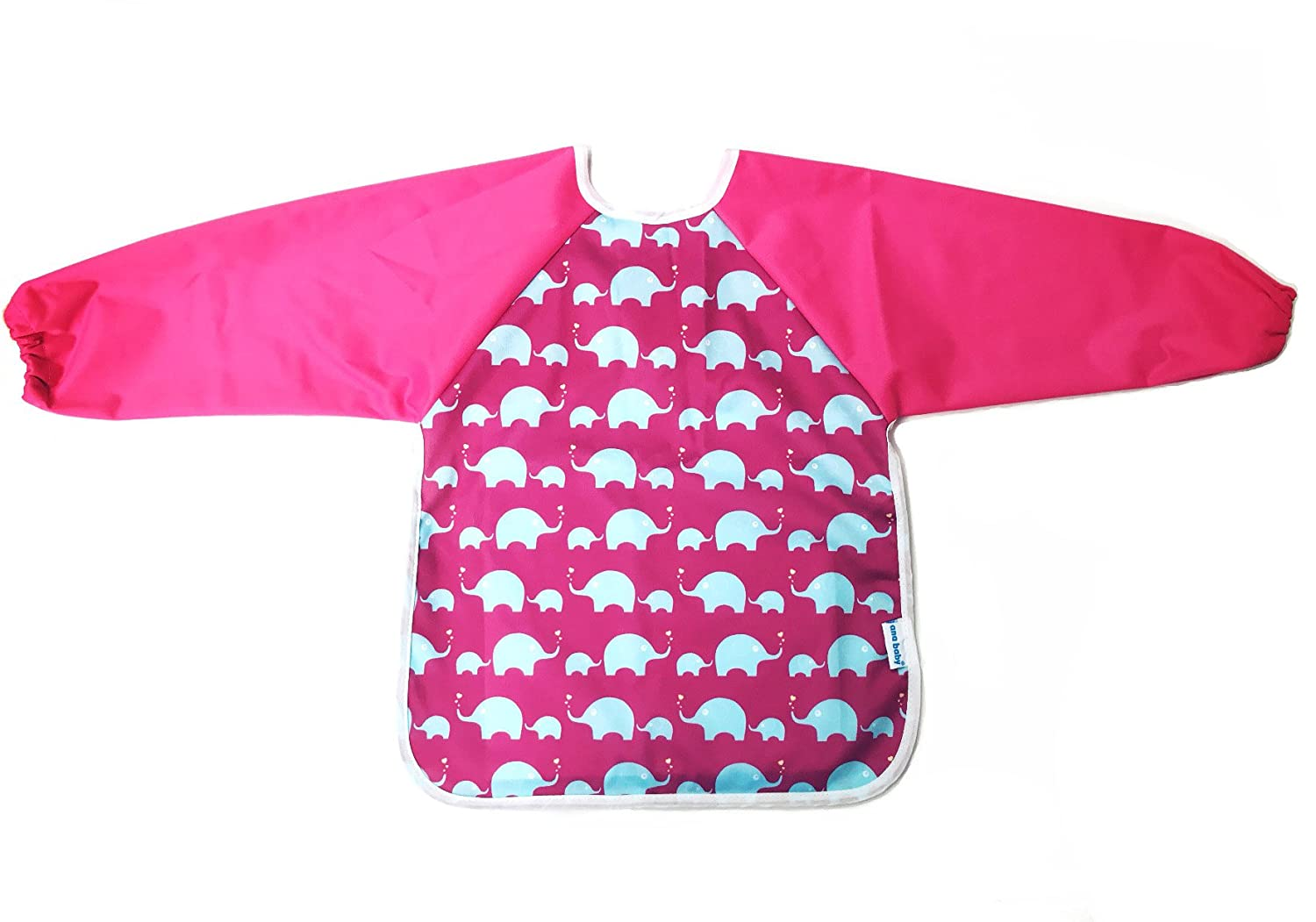 TinyToes Long Sleeve Waterproof Soft Washable Baby//Toddler Bib with Free Travel Bag