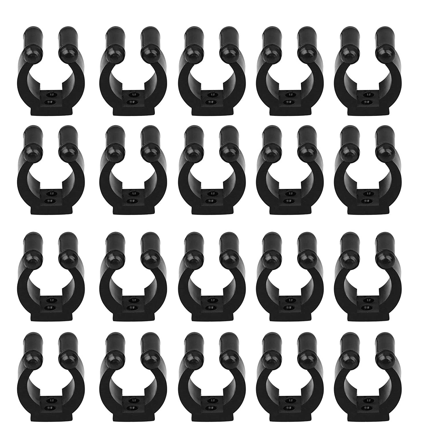 20-Pack Wall Mounted Fishing Rod Storage Clips Clamps Holder Rack Organizer