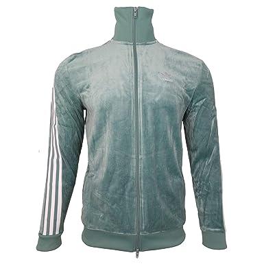 ed1530e1 adidas Originals Cozy Track Top Green at Amazon Men's Clothing store: