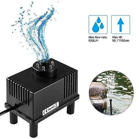 LEDGLE 5W Fountain Bomba de Agua, Bombas de Acuario sumergibles Bomba de Agua compacta con