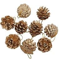 45PCS 1.57'' Christmas Hanging Ornament Natural Pinecone Christmas Tree Ornament Christmas Party Supplies