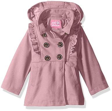 27b0ade260dc Amazon.com  Pink Platinum Baby Girls Ruffles Wool Jacket  Clothing