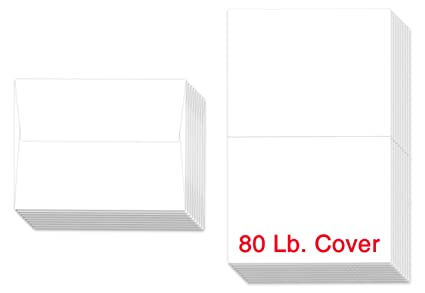 Amazon superfine printing 5 x 7 heavyweight blank white superfine printing 5quot x 7quot heavyweight blank white greeting card sets 50 cards m4hsunfo