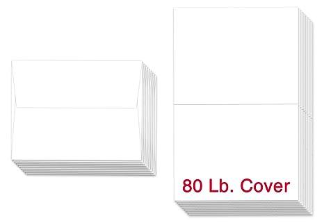 Amazon superfine printing 5 x 7 heavyweight blank white superfine printing 5quot x 7quot heavyweight blank white greeting card sets 50 cards m4hsunfo