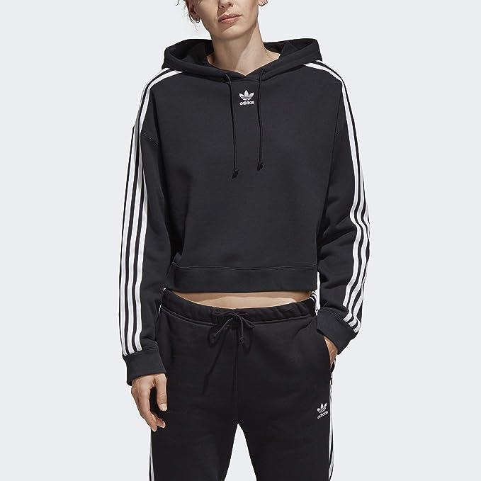 adidas Damen Cropped Hoodie: : Bekleidung