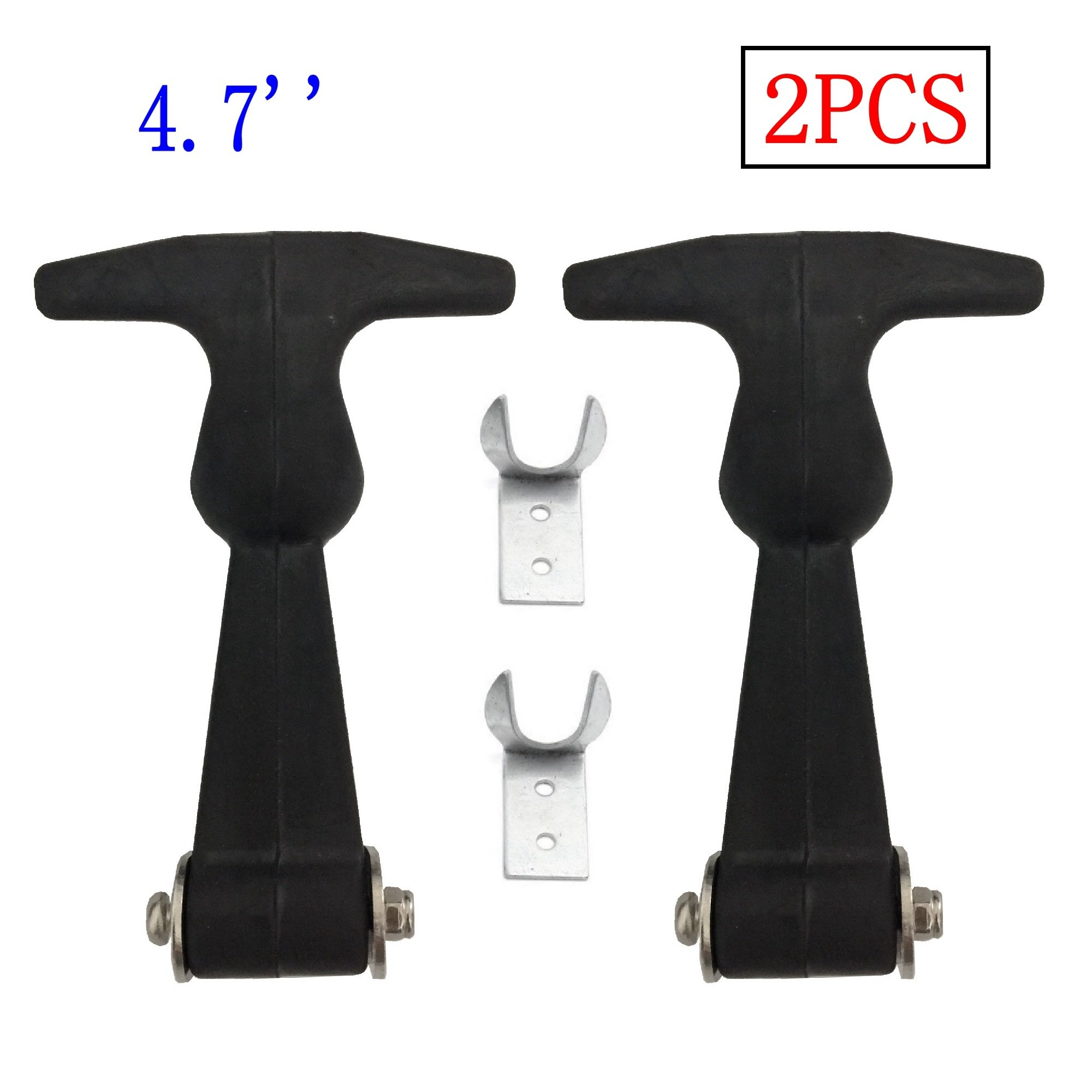 Creatyi 2 PCS 4.7'' Rubber Flexible Heavy Duty Premium SUS304 Stainless Steel T-Handle Draw Latches