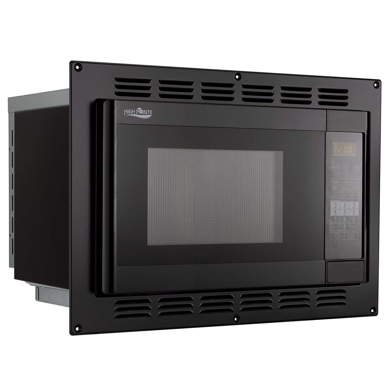 RecPro RV Convection Microwave Black 1.1 Cu. ft | 120V | Microwave | Appliances
