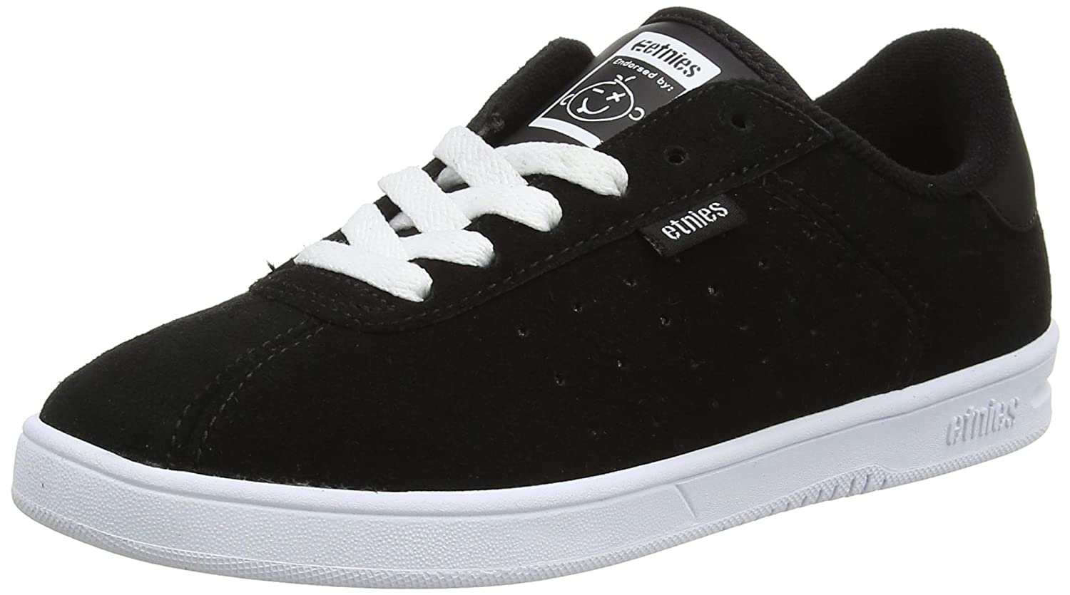 Etnies Women's The Scam W's Skate Shoe B01IE6YQRE 8 B(M) US|Black/White