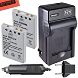 BM Premium 2-Pack of EN-EL5 Batteries and Battery Charger for Nikon Coolpix P80, P90, P100, P500, P510, P520, P530 Digital Camera (Tamaño: 2 Batteries + Single Charger)