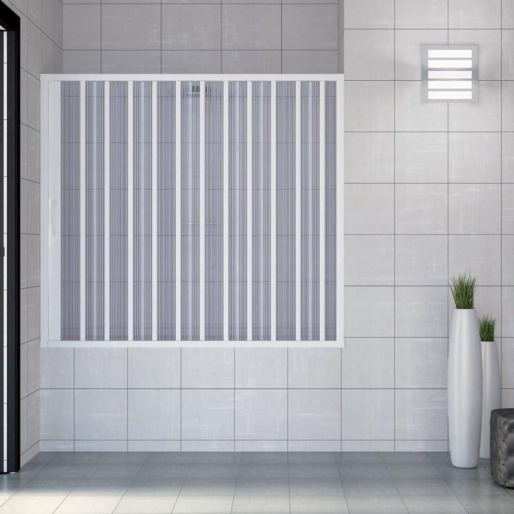 RL Puerta Mampara de bañera 150 CM de PVC Mod. Nina con Apertura ...