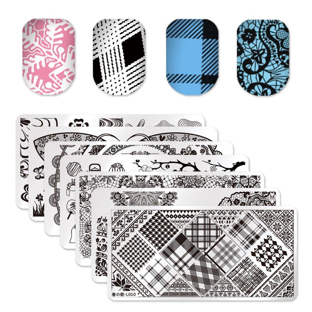 Born Pretty 10Pcs/set Nail Art Stamp Template Image Plate L002-L011