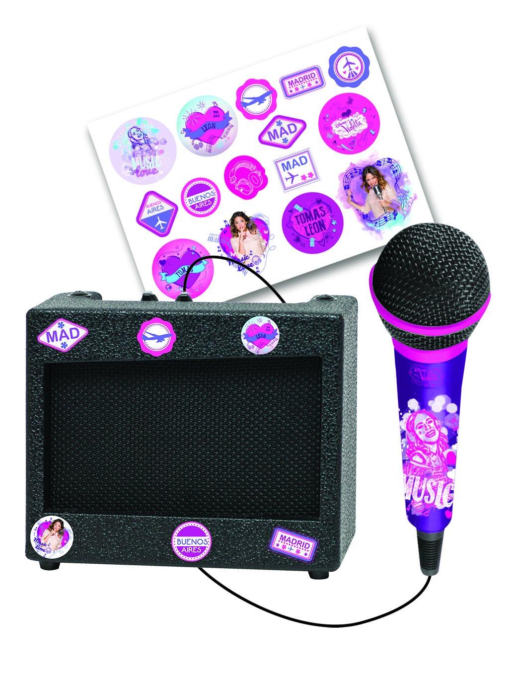 Violetta - Altavoz Portátil Con Micrófono (Lexibook K900VI)