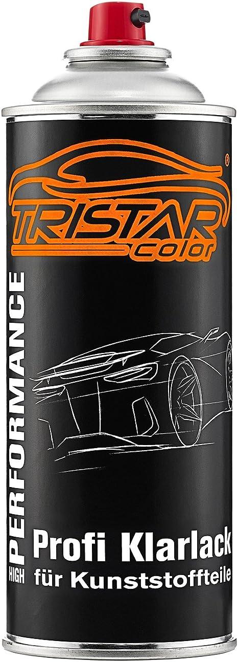 Tristarcolor Autolack Spraydosen Set Für Kunststoff Stoßstange Für Audi Ly9t Mythosschwarz Perl Haftgrund Basislack Klarlack Mit Weichmacher Sprühdose Auto