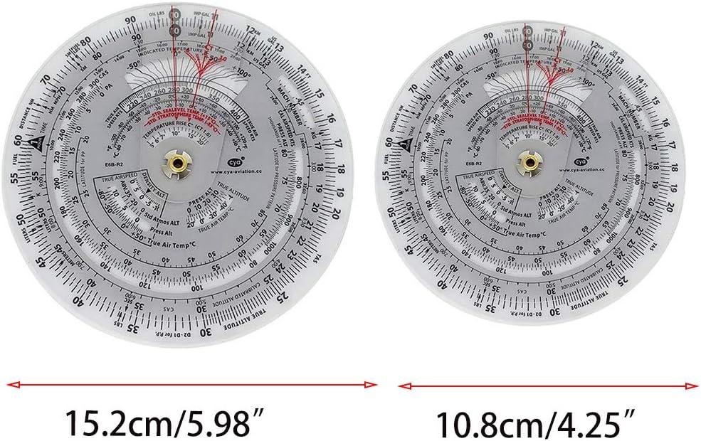 BIlinli E6B Aviaci/ón Forma Redonda Vector Circular Vuelo Medici/ón Calculadora de computadora Entrenamiento Regla de pl/ástico