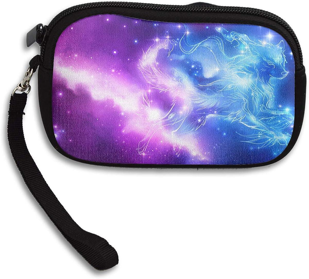 Galaxy Wolf Phone Purse Handbag Tote Purse//Compact Clutch Bag Purses Ladies Clutch Long Purse Large Capacity Evening Purse Womens Clutches Purse
