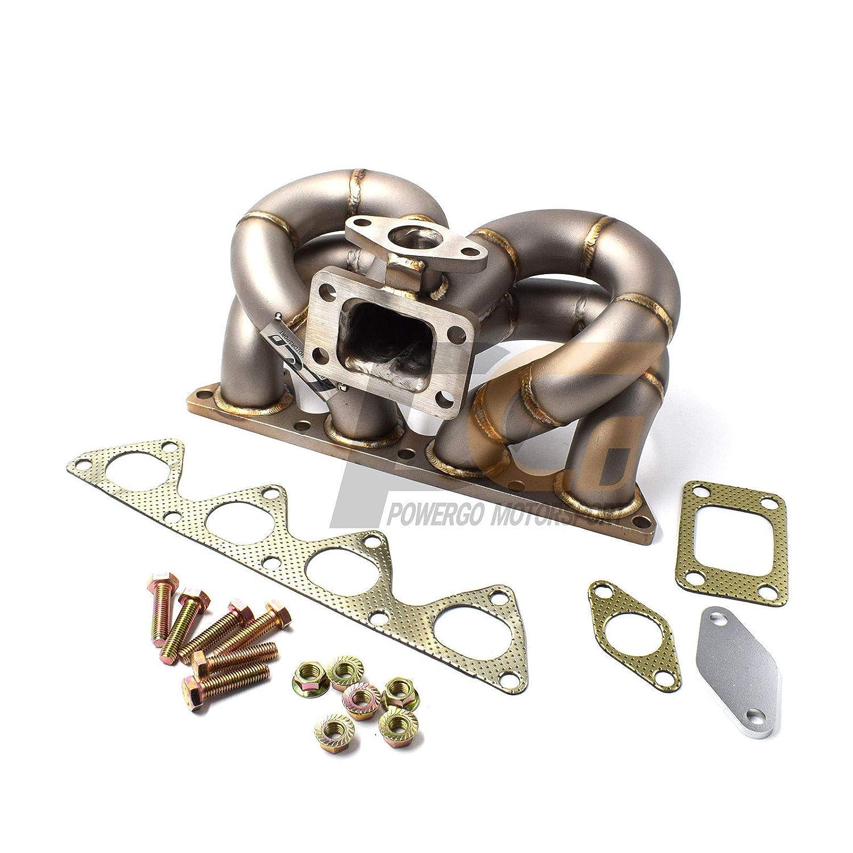 Turbo Manifold 3mm Piping T3 44mm WG FOR Honda Civic Acura Integra 1.6L 1.8L