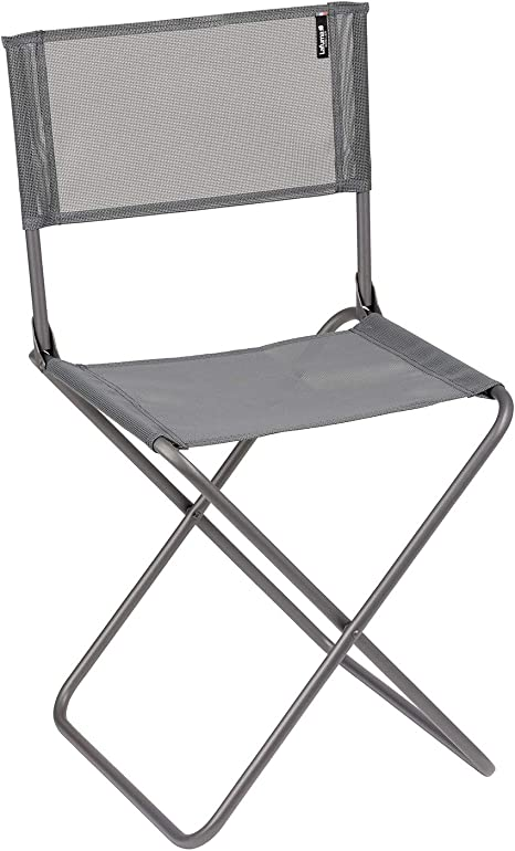 Lafuma Silla plegable de camping, compacta, CNO, Texplast, Color: Silex, LFM2834-8544