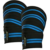 JoyFit - Knee Wraps Pair for Squats, Gym, Powerlifting, Weightlifting for Men and Women